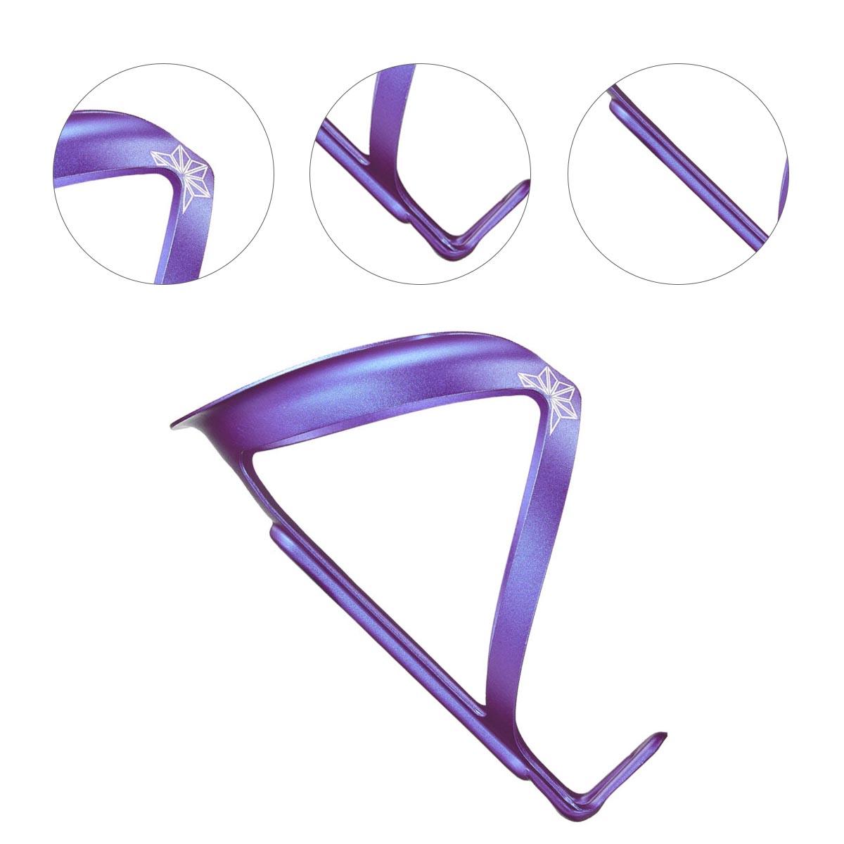 Suporte Caramanhola Supacaz FlyCage Ano Aluminio Roxo Neon