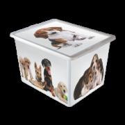 Caixa Organizadora com Tampa Grande Cães 28 Litros