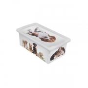 Caixa Organizadora com Tampa Pequena Cães 5.5 Litros