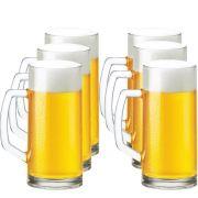 Caneca Chopp Cerveja Copo Jogo Berna Lisa M 300ml 6 Pcs