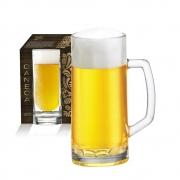 Caneca de Chopp de Vidro Cerveja Berna Canelada P 385ml