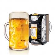 Caneca de Chopp de Vidro Cerveja Mass Krug G 1250ml