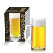 Caneca de Vidro para Cerveja Berna Canelada M de 300ml 01 pç