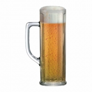Caneca de Chopp de Vidro Cerveja Danubio G Canelada 630ml