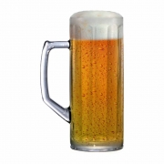 Caneca de Chopp de Vidro Cerveja Reno M Canelada 390ml
