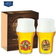 Conjunto de Copos de Vidro para Cerveja Futebol de 580ml 2 pcs QE
