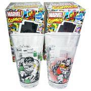 Conjunto de Copos Marvel - Comics Hulk Homem de Ferro 2 Peças