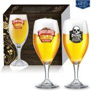 Conjunto de Taça de Cristal para Cerveja Holsten de 400ml 02 peças