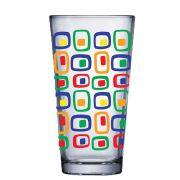 Copo de Água de Vidro Conic Mix Cubic 415ml