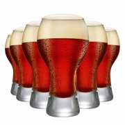 Copo de Cerveja Black P Vidro 380ml 6 Pcs