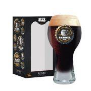 Copo de Cerveja com Frases Beer Coll. Barrel Black M 380ml