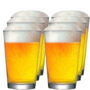 Copo de Cerveja de Vidro Caldereta M Kit c/ 06