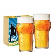 Copo de Cerveja de Vidro Futebol 580ml 6 Pcs
