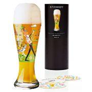 Copo de Cerveja Vidro Ritzenhoff Wheatbeer Glass Michal Shalev 2010 500ml