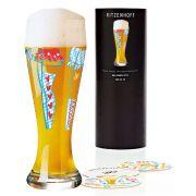 Copo de Cerveja Vidro Ritzenhoff Wheatbeer Glass Ulrike Klaus 2010 500ml