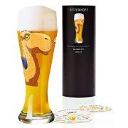 Copo de Cerveja Vidro Ritzenhoff Wheatbeer Glass Zwischenraum 2008 500ml