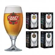 Taças de Cerveja Rótulo Frases Coleção 4 Pcs Sevilla G 530ml