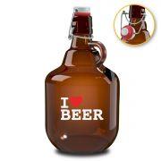 Growler de Vidro para Cerveja 2 Litros I Love Beer