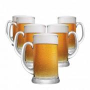 Caneca de Chopp de Vidro Cerveja Bavaria P 300ml 6 Pcs