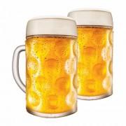 Caneca de Chopp de Vidro Cerveja Mass Krug G 1250ml 2 Pcs