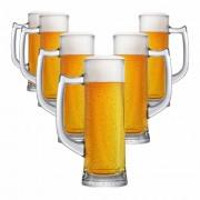 Caneca de Chopp de Vidro Cerveja Sauerland 280ml 6 Pcs