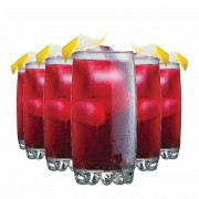 Jogo Copos Água Suco Riviera Long Drink Vidro 385ml 6 Pcs