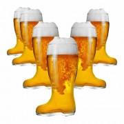 Copo de Cerveja de Vidro no Formato Bota Stiefel G 1210ml 6 Pcs