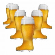 Copo de Cerveja de Vidro no Formato Bota Stiefel M 620ml 6 Pcs