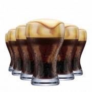 Copo de Cerveja de Cristal Black Premium 425ml 6 Pcs