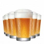 Copo de Cerveja de Vidro Caldereta 350 350ml 6 Pcs