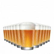 Copo de Cerveja de Vidro Caldereta Classico 325ml 12 Pcs