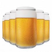 Jogo Copos Cerveja Can Vidro 473ml 6 Pcs