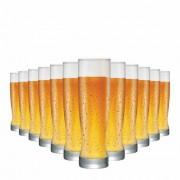 Copo de Cerveja de Vidro Genebra 400ml 12 Pcs