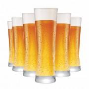 Copo de Cerveja de Vidro Polite 280ml 6 Pcs