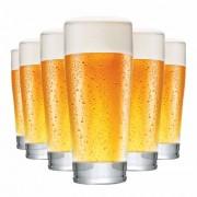 Copo de Cerveja de Vidro Prime P 220ml 6 Pcs