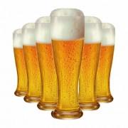 Copo de Cerveja de Vidro Weiss Linderhof Torcido 665ml 6 Pcs