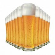 Copo de Cerveja de Vidro Weiss Polite G 685ml 12 Pcs