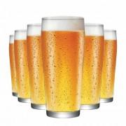 Copo de Cerveja de Vidro Willy P 310ml 6 Pcs