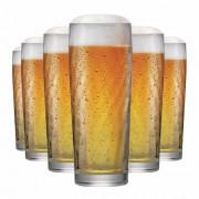 Copo de Cerveja de Vidro Zurich M 320ml 6 Pcs