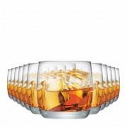 Jogo Copos Whisky New York On The Rocks Vidro 325ml 12 Pcs