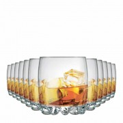 Jogo Copos Whisky Riviera On The Rocks Vidro 310ml 12 Pcs