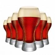 Copo de Cerveja de Vidro Black M 670ml 6 Pcs