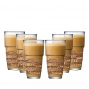 Jogo de Copos de Café Empilhavel Styles Luva 6 Pcs 360ml