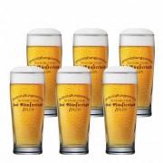 Jogo de Copos de Cerveja Frases Hof Munsterland Vidro 280ml