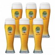 Jogo de Copos de Cerveja Frases Unser Burgerbrau Vidro 630ml
