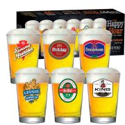 Jogo de Copos de Cerveja HH Caldereta 350 ml 6 Pcs