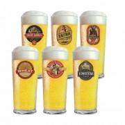Jogo de Copos de Cerveja HH de Vidro QE Ruvolo 6 Pcs