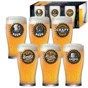 Jogo de Copos de Cerveja HH Pint 590ml Luva 6 Pcs