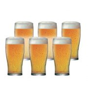 Jogo Copos Cerveja Pint Vidro 590ml 6 Pcs