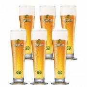 Jogo de Copos de Cerveja Rótulo Frases Gosser Vidro 400ml